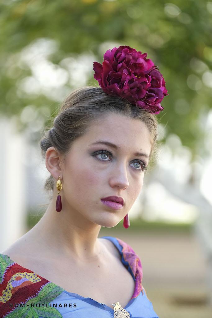flor vestido flamenca