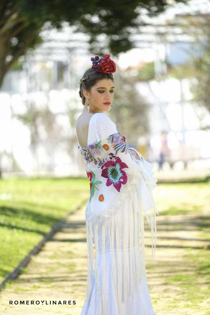 Vestido de flamenca blanco